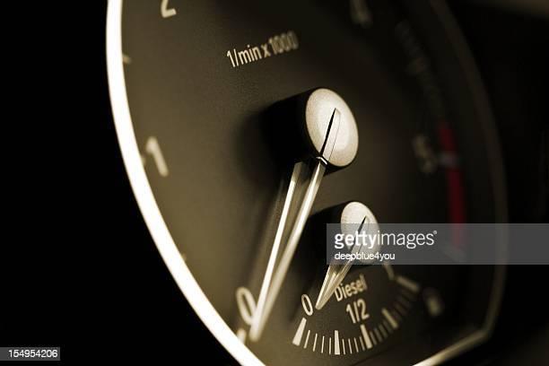 modern car tachometer