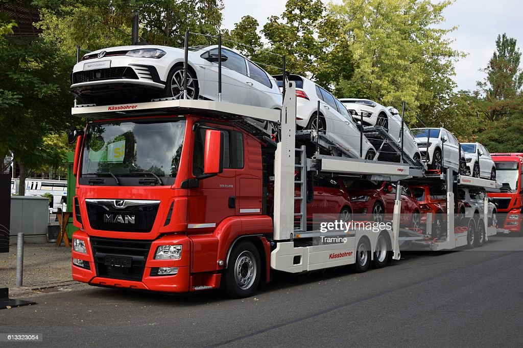 Modern Car Transporter Stock Photo | Getty Images