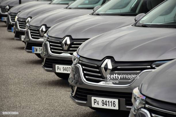 modern cars on the parking - renault stock pictures, royalty-free photos & images