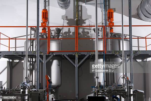 modern chemical plant. havy industry - gas refinery stock photos and pictures