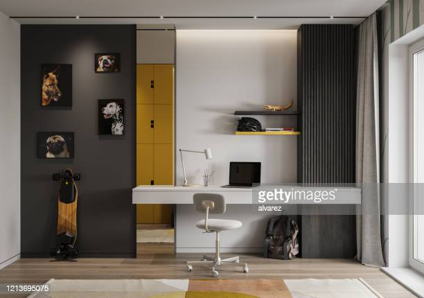 modern children room - architectural feature stock pictures, royalty-free photos & images