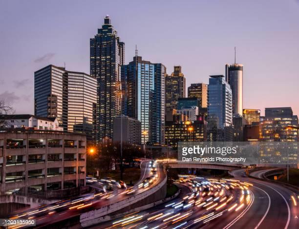 modern cities - atlanta stock-fotos und bilder