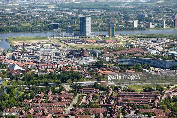 Modern city aerial view