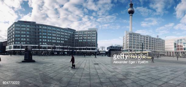modern city against sky - central berlin stock photos and pictures