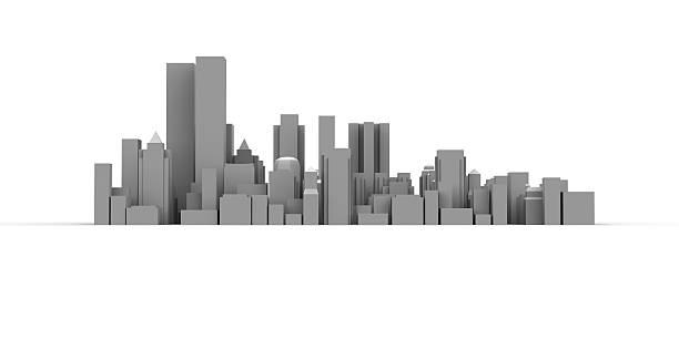 Modern City And High Buildings Wall Art