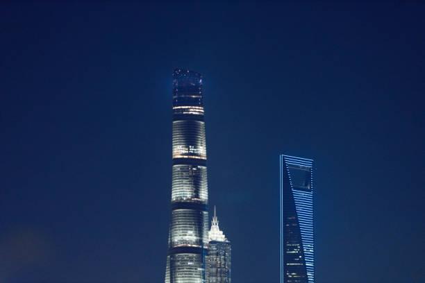 Modern city landmark building in Shanghai, China