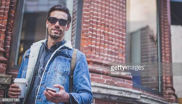 Modern city man
