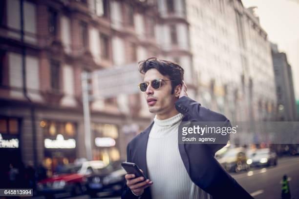 Hombre de la ciudad moderna