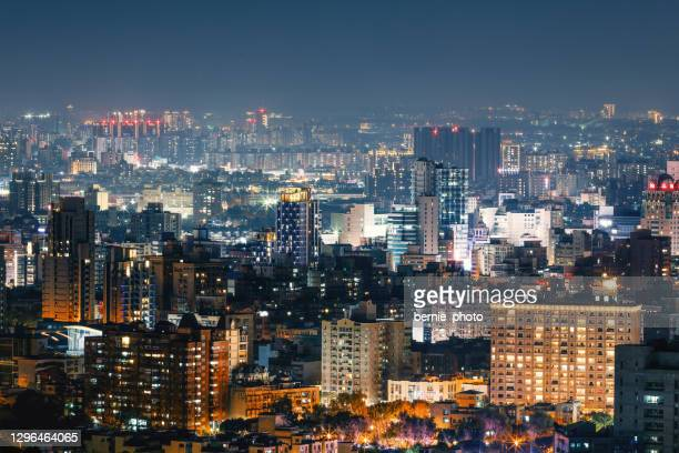 modern city night view - china east asia stock pictures, royalty-free photos & images