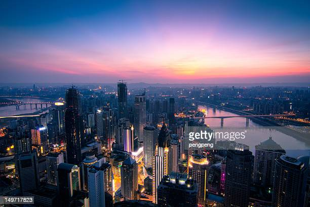 modern city - chongqing stock photos and pictures