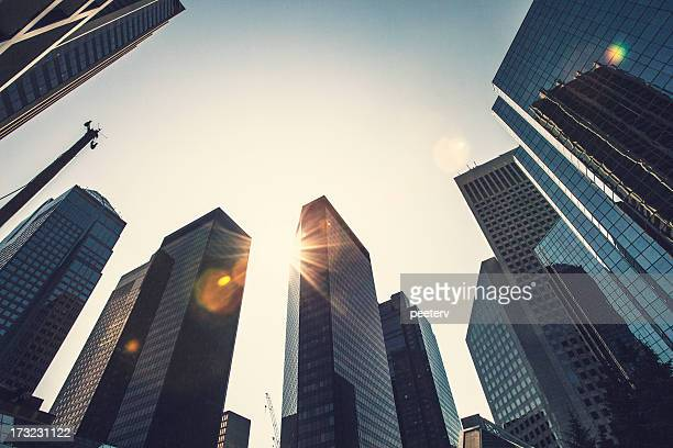 modern city. - calgary stock pictures, royalty-free photos & images