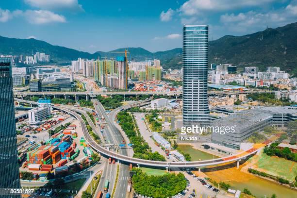 近代都市、深セン、中国 - 深圳市 ストックフォトと画像