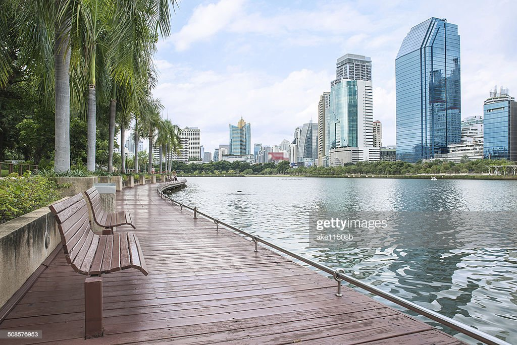 Modern city view of Bangkok, Thailand. Cityscape : Stock Photo