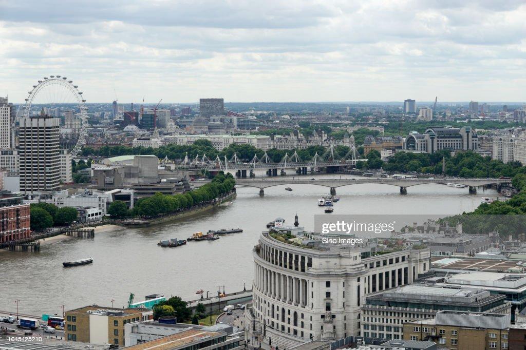 Modern cityscape during daytime, England, UK : Stock Photo