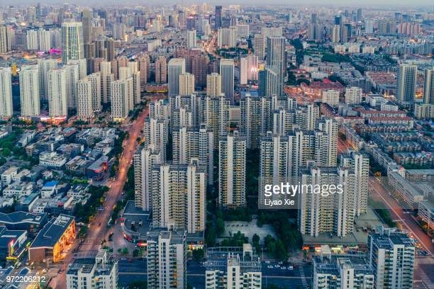 modern cityscape - liyao xie stock pictures, royalty-free photos & images