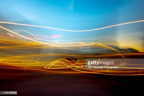 modern cityscape with motion - global village stock pictures, royalty-free photos & images