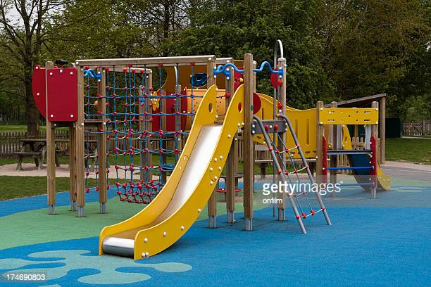 Modern climbing frame and slide