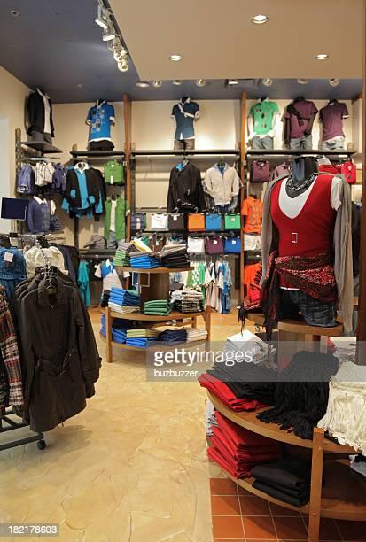 モダンな衣料品店のインテリア