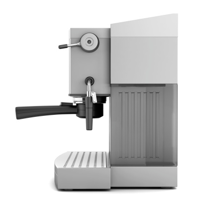 modern coffee machine isolated on white background 178571351