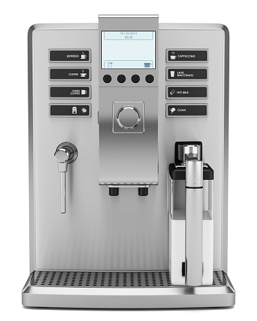 modern coffee machine isolated on white background 501194016
