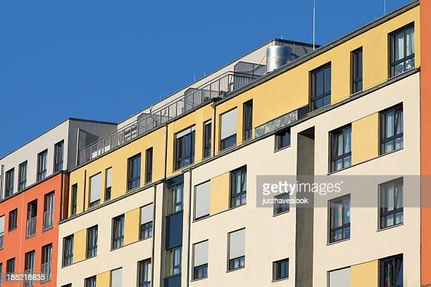 modern colorful architecture - essen germany stock pictures, royalty-free photos & images