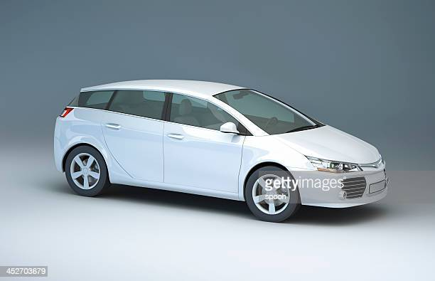 modern compact car in a studio - compact car stock photos and pictures