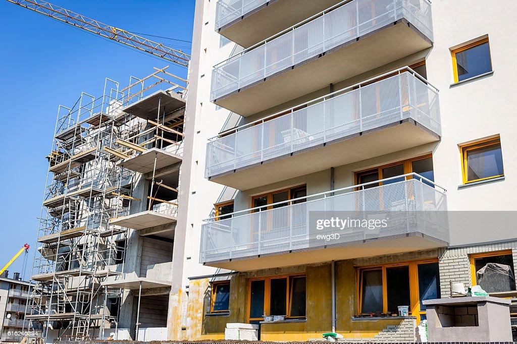 Modern complex of apartment buildings, Szczecin, Poland : Stock Photo