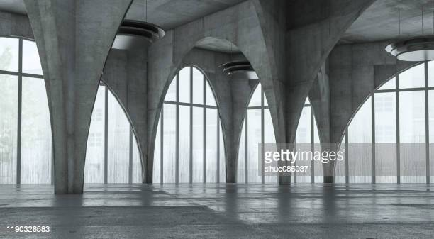 modern concrete background stage - showroom stock pictures, royalty-free photos & images