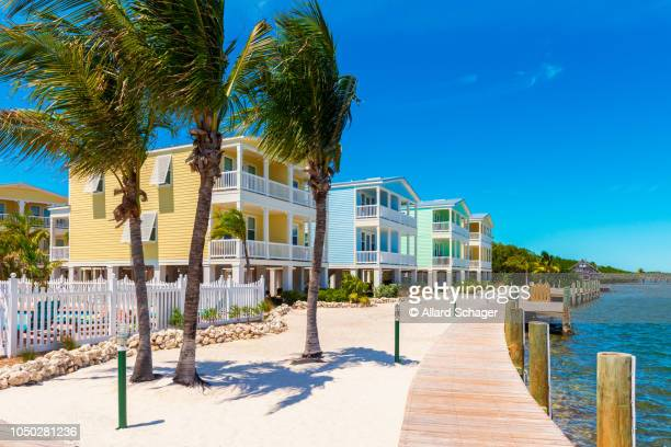 modern condos in little torch key florida keys usa - florida keys stock pictures, royalty-free photos & images