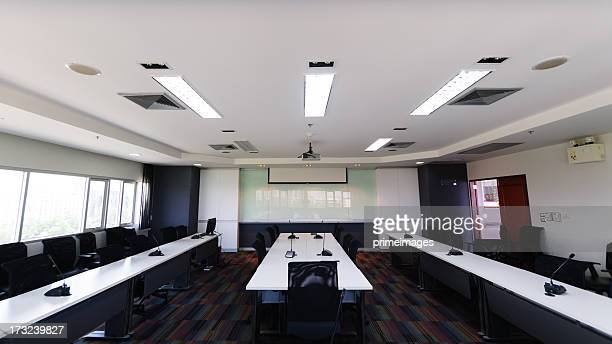 modern conference room interior - big mike stock pictures, royalty-free photos & images