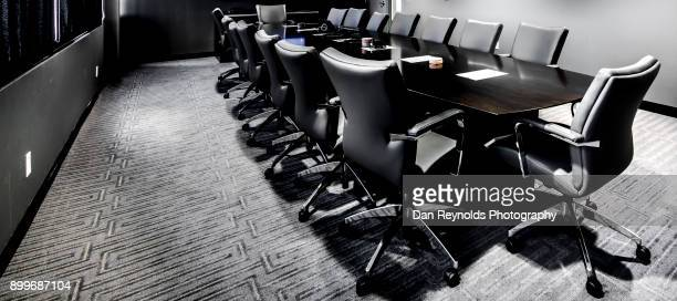modern conference room interior - chairperson stock pictures, royalty-free photos & images