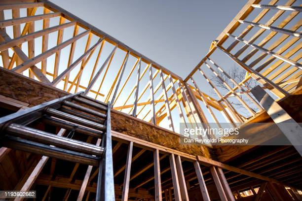 modern construction site - foundation make up stock pictures, royalty-free photos & images