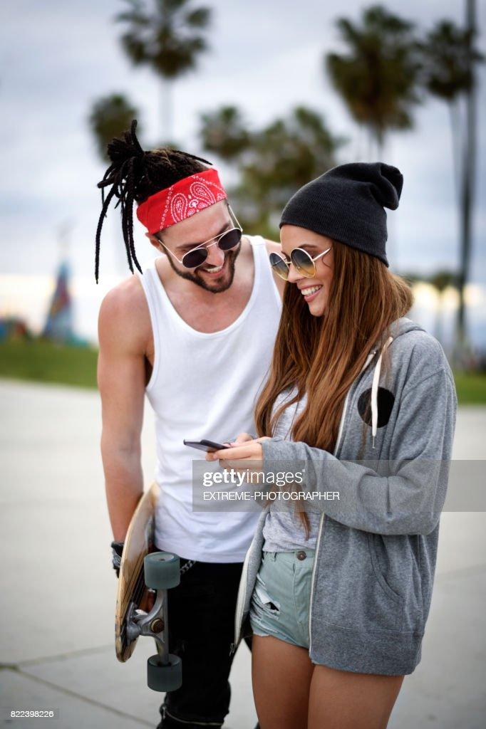 Modern couple : Stock Photo