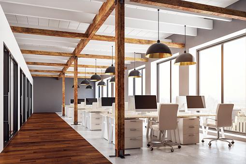 Modern coworking office 938307548