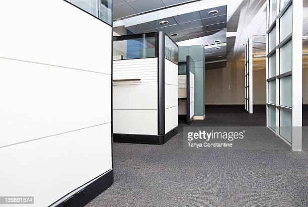 Modern cubicles in office