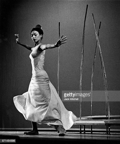 Modern dancer and choreographer Martha Graham performing in 1962
