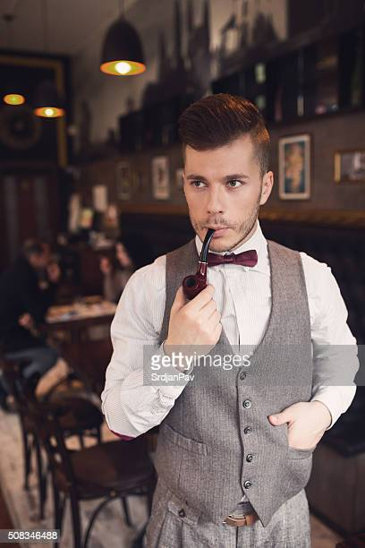 modern dandy - waistcoat stock photos and pictures