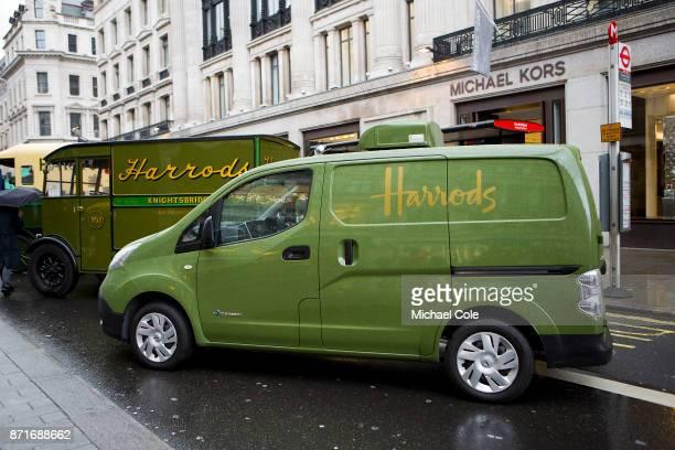 Modern day 'Harrods' Light van at The Regent Street Motor Show in London on November 4 2017 in London England