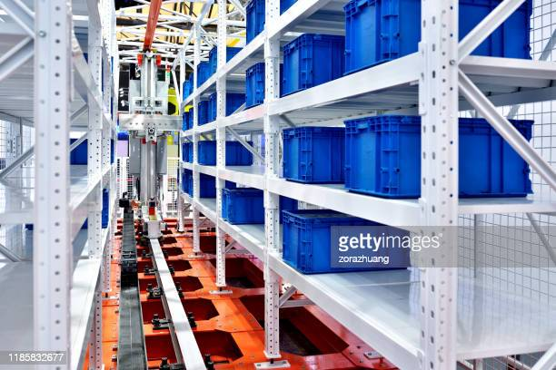 modern distribution warehouse - big data storage stock pictures, royalty-free photos & images