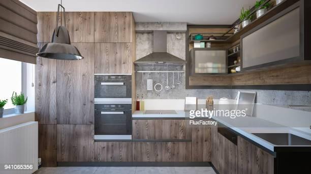 Modern domestic kitchen render