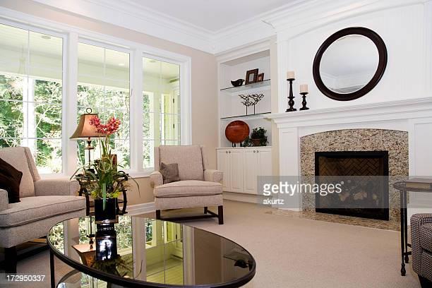 Modern domestic living room Interior architecture design model