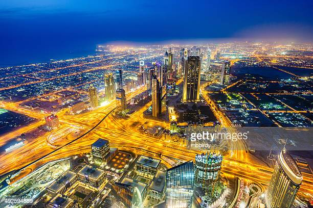 Modern Dubai cityscape at twilight, United Arab Emirates