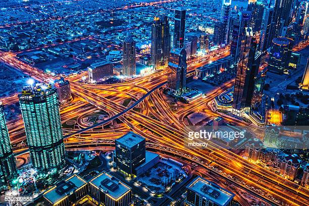 Modern Dubai cityscape at twilight, United Arab Emirates