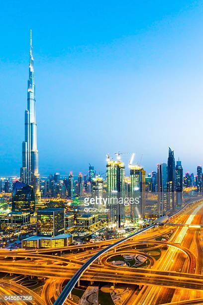 Modern Dubai Downtown District