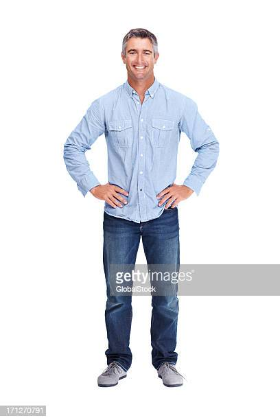 modern easy going man - arms akimbo stock pictures, royalty-free photos & images