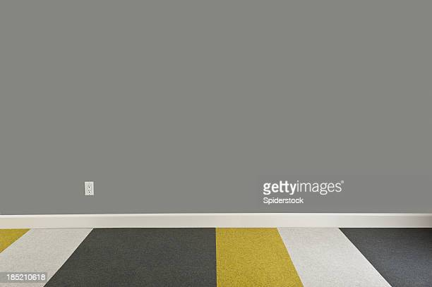 modern empty room - wainscoting stock photos and pictures