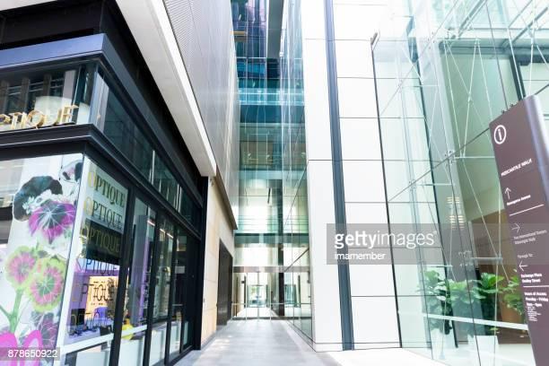Modern entrance to the office building, Sydney Australia