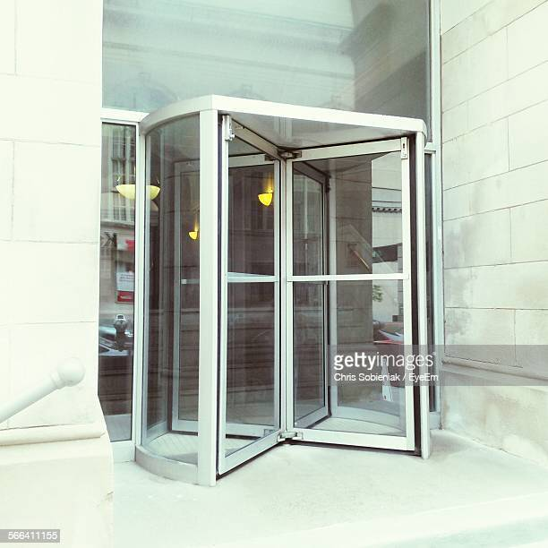 Modern Entrance With Revolving Door