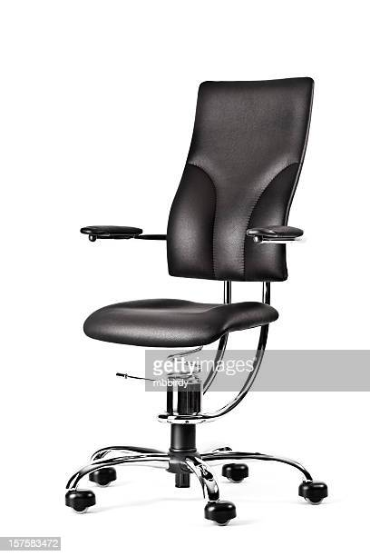 modern ergonomic armchair, isolated on white - ergonomics stock photos and pictures