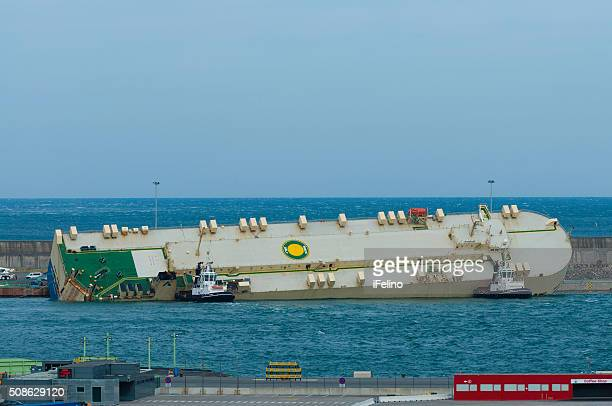 Modern Express cargo ship rescued in Bilbao port